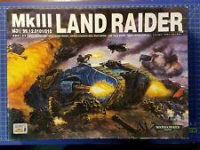 Warhammer 40k Space Marine MkIII Land Raider NiB OOP