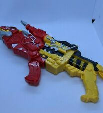 Power Rangers Dino Super Charge Yellow & Red T-Rex Morphers Blaster Set