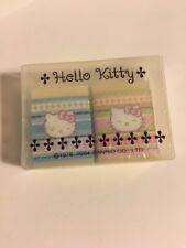 Sanrio Original Rare Classic Hello Kitty Eraser Set In Case 2004 Vintage