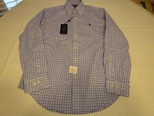 Ralph Lauren Hombre XXL Azul Marino Classics 540001 Algodón Cuadros Camisa