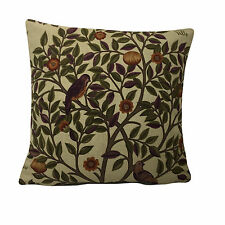"William Morris Kelmscott Tree  - Mulberry Russer Linen 16"" x 16""  Cushion Cover"