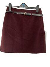 New Look Burgundy Skirt Size 10