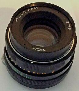 Helios 44M 2/58 f/2 58mm USSR Prime Camera Lens Fits M42 Mount