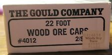 The Gould Company HO Scale 22 Foot Wood Ore Cars #4012