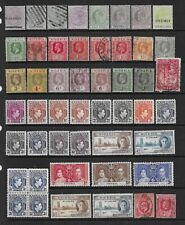 2 scans-Collection of mint & good used Nigeria stamps.