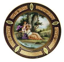 ROYAL VIENNA PRUNK TELLER ROYAL VIENNA PLATE NYMPHE UND LIEBESPUTTO UM 1890