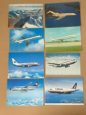 More details for vintage postcards with different airlines flights x 8