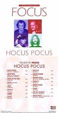 """Focus """"Hocus pocus - The best of Focus""""!  75 Minuten! Neue CD mit 16 Songs!"""