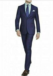 MJ Bale suit, blue micro check, Belfour Navy, jacket 40, pants 34 slim fit