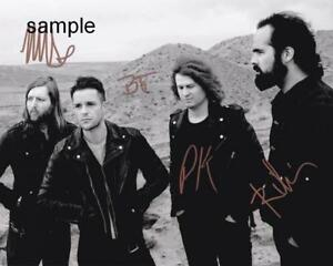THE KILLERS BAND #2 REPRINT 8X10 AUTOGRAPHED SIGNED PHOTO PICTURE COLLECTIBLE RP