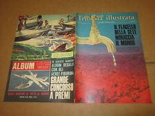 TRIBUNA ILLUSTRATA N°26/1966 CON ALBUM AEREI DEL MONDO P.GETTY M.ARENA