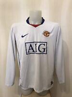Manchester United 2008/2009 away Sz L Nike shirt jersey maillot football soccer