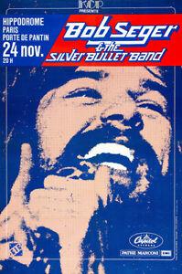 Bob Seger - 1980 - Paris France - Concert Poster