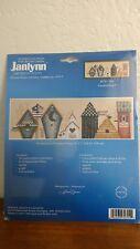 Counted Cross Stitch Rainbird Row Birdhouses Janlynn  2002 030 0304 Alma Lynne
