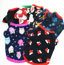 Hot Christmas Pet Puppy Small Dog Cat Pet Clothes Flannel Soft T-Shirt Costumes