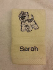 A Personalised Westie Dog Face Cloth Embroidered West Highland Terrier Present