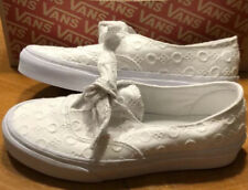Women's Vans Sneakers Authentic Knotted Cotton Lace White Size 6 NEW