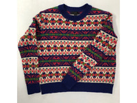 J Crew Womens Pullover Sweater Pink Nordic Fair Isle Long Sleeves Lambswool XXS