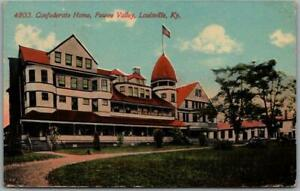 """Louisville, Kentucky Postcard """"Confederate Home, Pewee Valley"""" 1913 Cancel"""