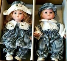 Euro Souvenirs Collection Hand Made Euro-Exquisite Porcelain Twin 2 Dolls