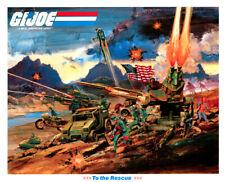 Hasbro 1982 G.I. Joe Stars & Stripes Poster Print 🔥😎🔥