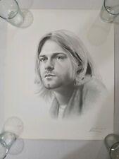 Kurt Cobain S/N Charcoil Sketch 1994