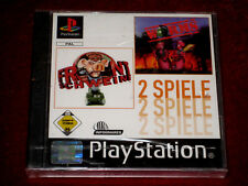 *New & Factory Sealed* PS1 Games HOGS OF WAR (FRONTSCHWEINE) + WORMS PAL