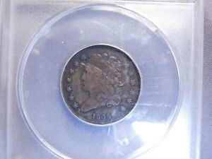 1835 Half Cent - Classic Head | ANACS VF30 | Rare Early US Coin
