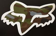Fox Racing 7 inch Fox Head Sticker Black White Red Blue Camo Chrome Pink Decal