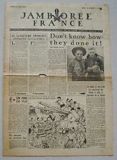 Jamborée France 6 - 21 Aout 1947 ; Journal N° 7 du 12 Août  Scouts P JOUBERT