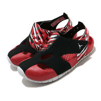 Nike Jordan Flare TD Black White Red Toddler Infant Baby Sandals Shoe CI7850-016
