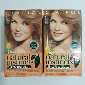 2-Clairol Natural Instincts 6 Hair Color Linen Medium Cool Blonde With Vitamin