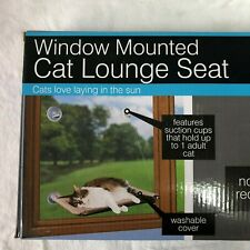 Window Mounted Cat Lounge Seat Space Saving Suction Cups