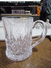 Gorgeous 1/2 pint Lead Crystal Glass / Tankard.