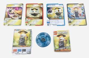 LEGO   NINJAGO SPINNER & Cards  (for SENSEI WU Spinjitzu Minifigure  2255-1)