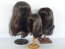 "100% Human Hair DOLL WIG  7.1"" (18 cm). Long hair - Georgette BRAVOT - FRANCE"