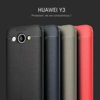 Luxury Shockproof Leather Soft TPU Business Phone Cover Case For Huawei Y3 2017