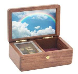 BEECH WOOD JEWELRY MUSIC BOX : ♫ SOMEWHERE OVER THE RAINBOW ♫
