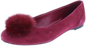 MICHAEL Michael Kors Women's REMI BALLET Suede/Fur Flats MULBERRY  9.5 M   NIB