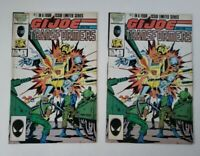 G.I. JOE AND THE TRANSFORMERS #1 (2 copies) VOL. 1, Marvel Comics 1987 4 Min FN