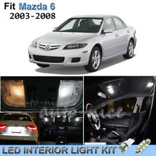 For 2003-2008 Mazda 6 Luxury White Interior LED Lights Kit 10 Pieces