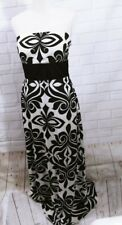 White House Black Market Dress Sz 10 Strapless Maxi Ball Cocktail Gown
