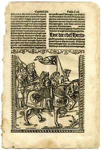 Rare Antique Print-MAXIMILIAN I-ARMOR-KNIGHT-GHENT-Doppere-Vorsterman-1531