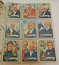 Vintage 1972 Topps U.S. Presidents Complete Card Set 1-43 Lincoln Washington JFK