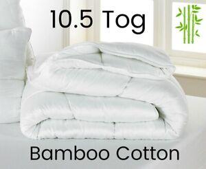 10.5 TOG DUVET BAMBOO COTTON DUVET Anti-Bacterial Midweight Duvet BREATHABLE
