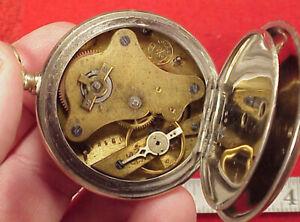 Vintage BEAUCOURT CO POCKET WATCH 46MM KEYWIND KEYSET TICKaBIT NICKEL SILVER