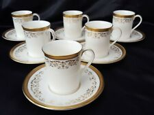 Royal Doulton Belmont Gold  COFFEE CUP AND SAUCER X 6