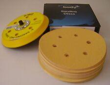 "Mirka Plain Boxed 150mm 6"" Mixed Grit 50x Sanding Abrasive Discs + Backing Pad"