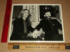 Rare Original VTG Candid Beatles Ringo Starr with Wife Barbara Bach Press Photo