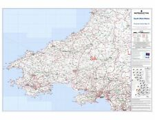Postcode Sector Map 10 South West Wales - Laminated Wall Map